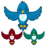 Vogel in drie verschillende kleuren Stock Fotografie