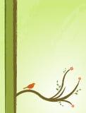 Vogel in een boomillustratie Stock Afbeelding