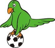 Vogel en bal vector illustratie