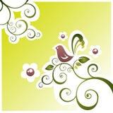 Vogel en bloemen Royalty-vrije Stock Afbeelding