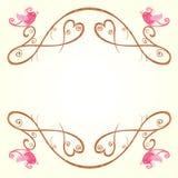 Vogel en hartdecoratie Royalty-vrije Stock Foto's
