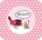 Vogel en insect Royalty-vrije Stock Foto