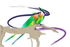 Vogel en natuurlijk Royalty-vrije Stock Afbeelding