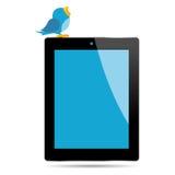Vogel en tablet Stock Foto's