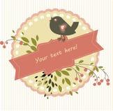 Vogel en tak Royalty-vrije Stock Fotografie