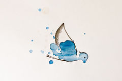 Vogel gemaltes Aquarell Stockbild