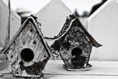 Vogel-Häuser Stockfoto