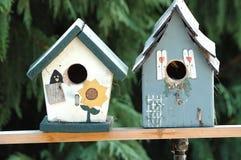 Vogel-Häuser Stockbild