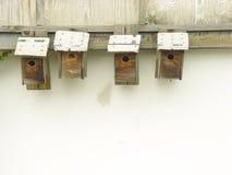 Vogel-Häuser Stockbilder