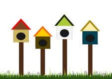 Vogel-Häuser stock abbildung