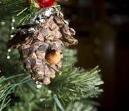 Vogel-Haus-Weihnachtsverzierung Lizenzfreies Stockbild