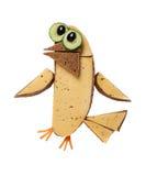 Vogel hergestellt vom Brot und vom Käse auf weißem Hintergrund Lizenzfreie Stockfotografie