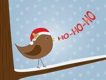 Vogel het zingen ho-ho-ho Royalty-vrije Stock Foto's