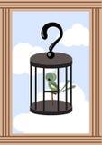 Vogel im Rahmen Stockbilder