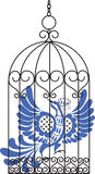 Vogel im Rahmen Lizenzfreies Stockbild