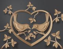 Vogel in liefde vector illustratie