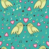 Vogel-in-liefde-patroon Stock Afbeelding