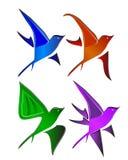 Vogel-Logo Lizenzfreie Stockbilder