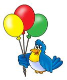 Vogel met ballons Stock Foto
