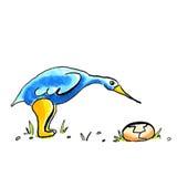 Vogel met ei Royalty-vrije Stock Afbeelding