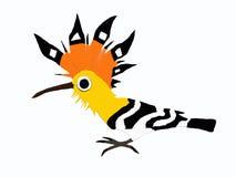 Vogel met kam royalty-vrije illustratie