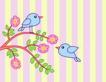 Vogel mit Baum Lizenzfreies Stockfoto