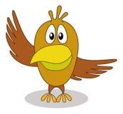 Vogel mit dem Zeigen des Flügels Lizenzfreies Stockfoto