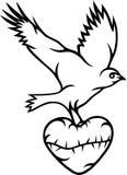 Vogel mit Liebe Vektor Abbildung