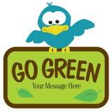 Vogel mit Zeichen Lizenzfreie Stockfotos