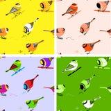 Vogel-nahtlose Muster-Fliesen Stockfotografie
