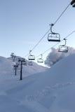 Vogel narty centrum w gór Juliańskich Alps Zdjęcie Stock