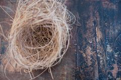 Vogel-Nest-Meditation stockbild