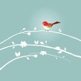 Vogel op de tak Stock Fotografie