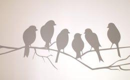 Vogel op een draad stock afbeelding