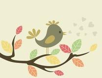 Vogel op een tree3 royalty-vrije illustratie