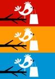 Vogel op een tree8 stock illustratie