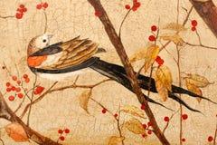 Vogel op takken Royalty-vrije Stock Foto