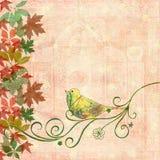 Vogel op wervelingen stock illustratie