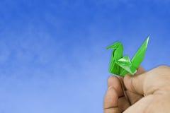Vogel Origami Lizenzfreie Stockfotos