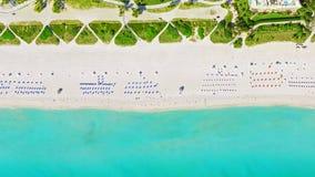 Vogel ` s Augenansicht Miami Beach stockfotos