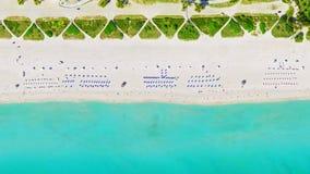 Vogel ` s Augenansicht Miami Beach lizenzfreies stockfoto