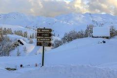 Vogel ski center in  mountains Julian Alps Stock Image