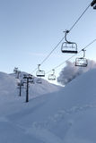 Vogel ski center in mountains Julian Alps Stock Photo