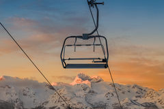 Vogel ski center in the mountains a lot of snow and spectacular Royalty Free Stock Image