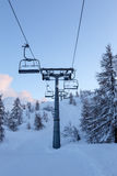 Vogel-Skimitte in den Bergen Julian Alps Stockfotos
