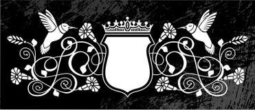 Vogel-und Blumen-königlicher Scheitel Stockfotos