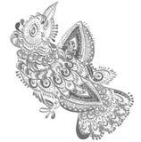 Vogel van geluk stock illustratie