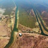 Vogel-View See im Herbst Lizenzfreies Stockbild