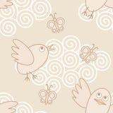 Vogel-vliegt stock illustratie