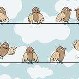 Vogel-zitting stock illustratie